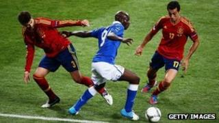 Euro 2012 final match between Spain and Italy