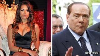 Marime El-Mahroug and Silvio Berlusconi