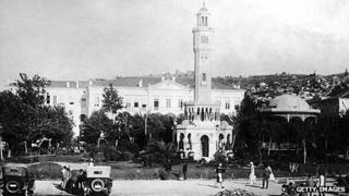Government buildings in Izmir (then Smyrna) circa 1920