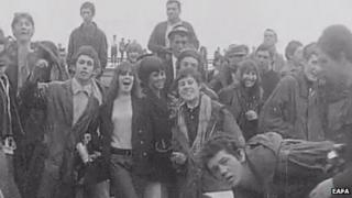 Young mods at Great Yarmouth, 1964