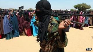 Al-Shabab fighter in Elasha Biyaha, February 2012
