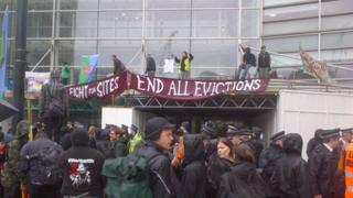 Protesters at DCLG in Victoria London
