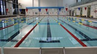 The swimming pool at the new centre