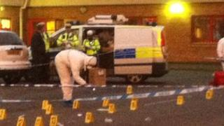 Police forensics at Ely Fire Station