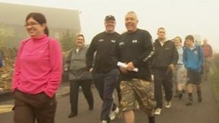 Charity walkers