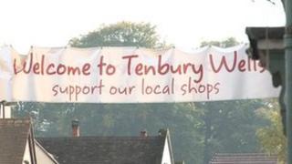 Tenbury Wells sign