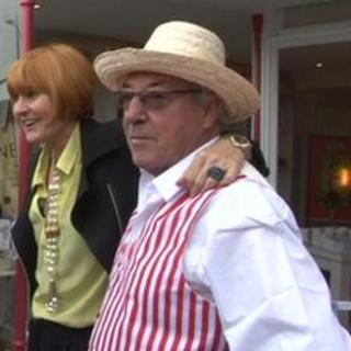 Mary Portas with the owner of Kiss Me Quick in Margate