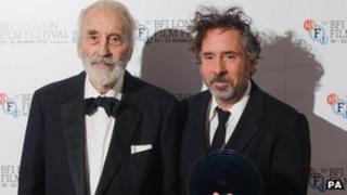 Tim Burton (right) with Sir Christoper Lee