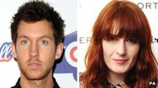 Calvin Harris and Florence Welch