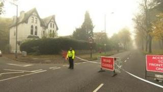 Road closure on Sunday