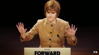 Nicola Sturgeon at the SNP conference