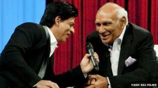 Yash Chopra with Shah Rukh Khan