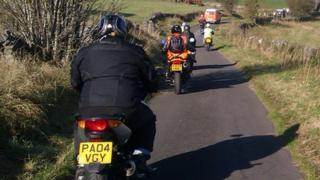Protest riders in the Peak District