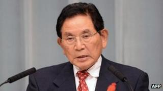 File picture, taken on 1 October, 2012 of Japanese Justice Minister Keishu Tanaka who stepped down 23 October