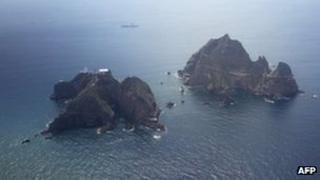 File photo: Disputed islands known as Dokdo in Korea and Takeshima in Japan