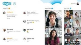 Skype Windows 8 screenshot
