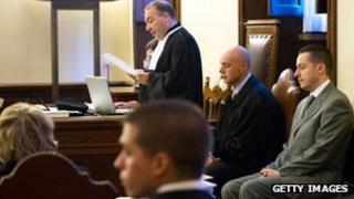 Paolo Gabriele (right) during his trial at the Vatican on 29/09/12