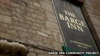 Barge Inn sign
