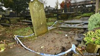 Missing gravestones at Bronte Bell chapel cemetery