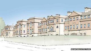 Artist's impression of Cliftonville Road development