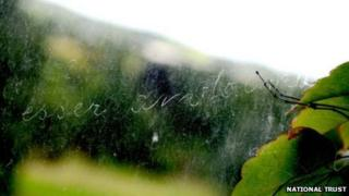 Window pane graffiti at Penrhyn Castle