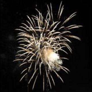 Fireworks over St Peter Port, Guernsey