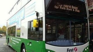 One of eight hybrid buses to be used in Bath