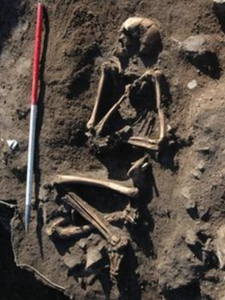 Skeleton found at Llanbedrgoch, Anglesey