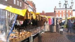 Leek outdoor market