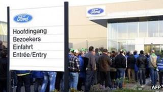 Ford's plant in Genk, Belgium
