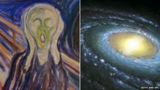 Edvard Munch's The Scream and the Milky Way