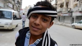 Teenage boy in Syria
