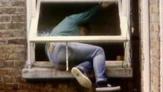 Generic scene of burglary