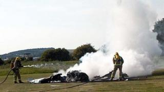 Plane crash at Shoreham (picture by Andy Cloke)