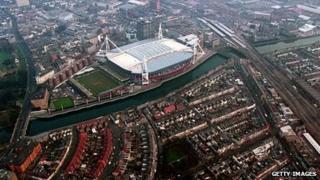 Cardiff aerial picture