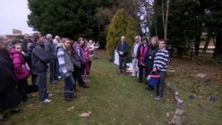 Fuller family public memorial in Coleford, 28 October