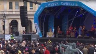 Diwali celebrations in Trafalgar Square