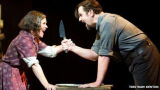 Imelda Staunton as Mrs Lovett and Michael Ball as Sweeney Todd (Photo: Tristram Kenton)