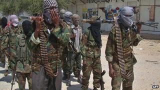 Al-Shabab fighters photographed in March 2012