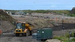 Mont Cuet landfill in Guernsey