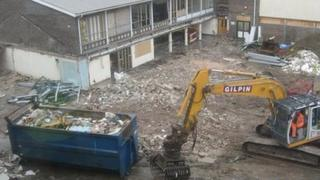 Demolition of the Parkside School where the UTC will be built