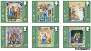 Guernsey Christmas stamp set