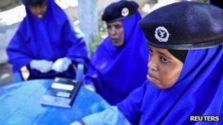 Police women in Mogadishu - Somalia