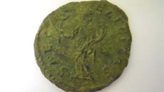 A rare Roman coin