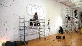 Composition with Circles 9 at the Gemeentemuseum in The Hague