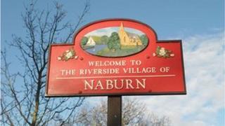 Naburn village sign