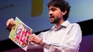 Manu Prakash at TED, copyright TED