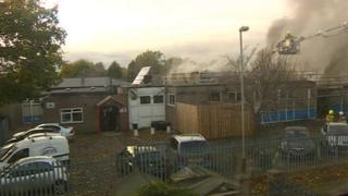Catherine Junior School on fire