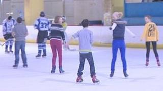 Skaters at Bristol Ice Rink