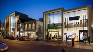 Artist's impression of the redeveloped Williams & Griffin store in Colchester